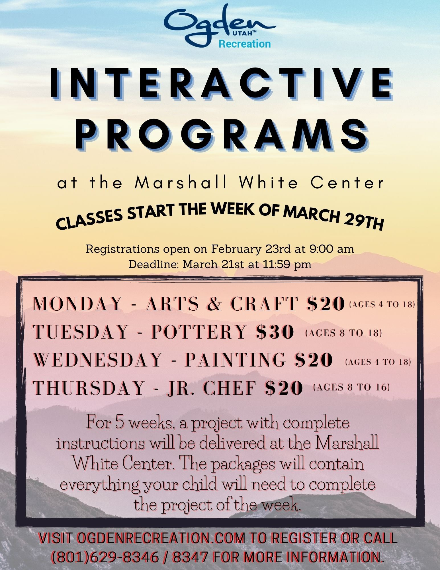 Interactive Programs Spring 2021 Flyer