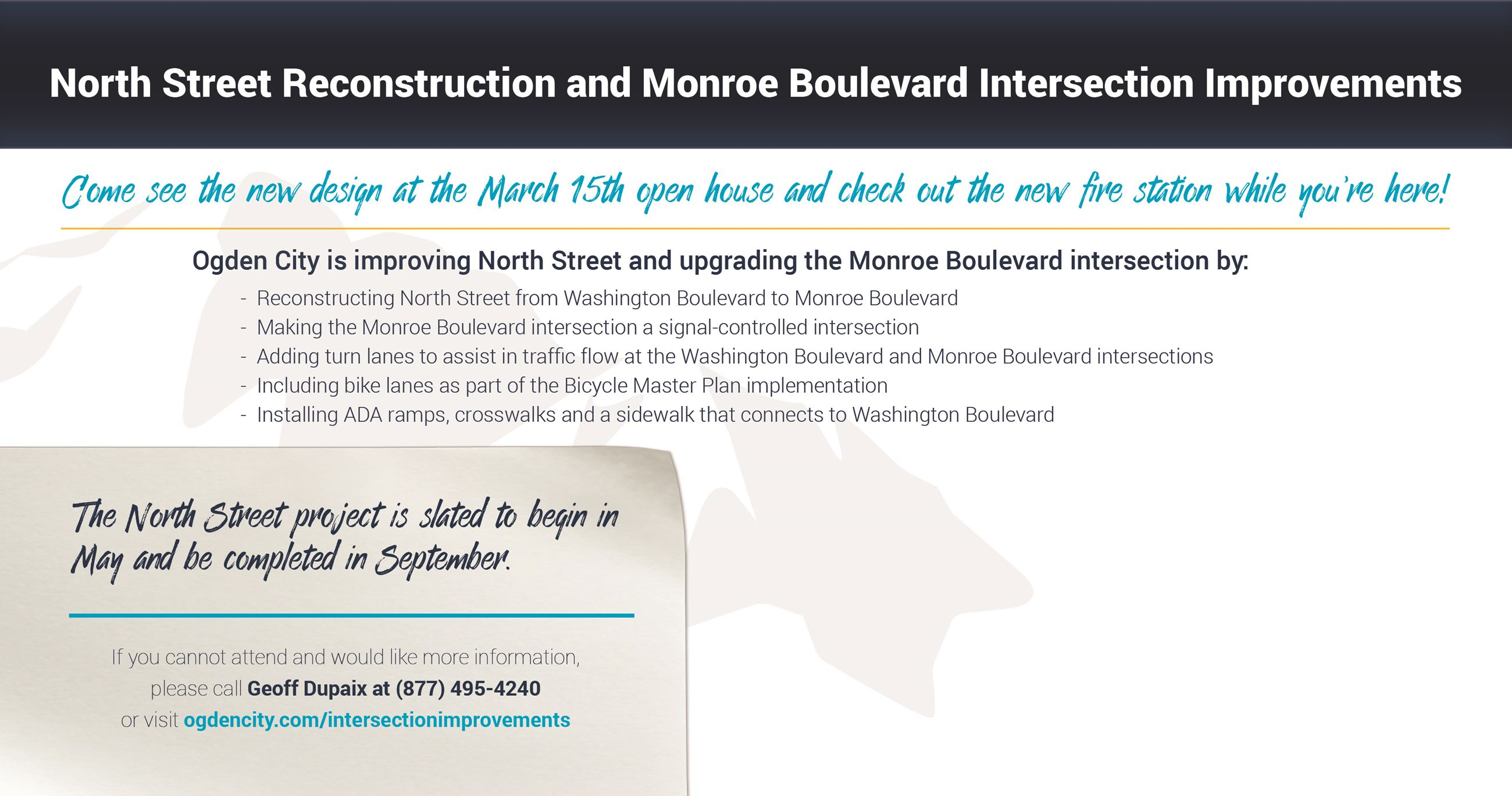 Monroe and North Street Intersection Additional Information