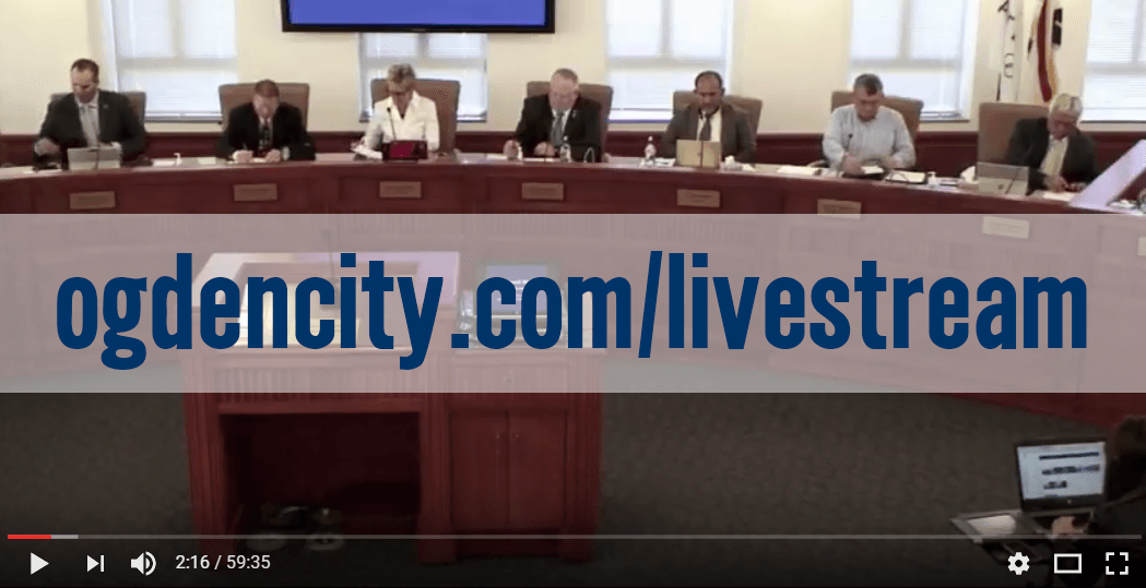 Ogden City Council now live streaming meetings