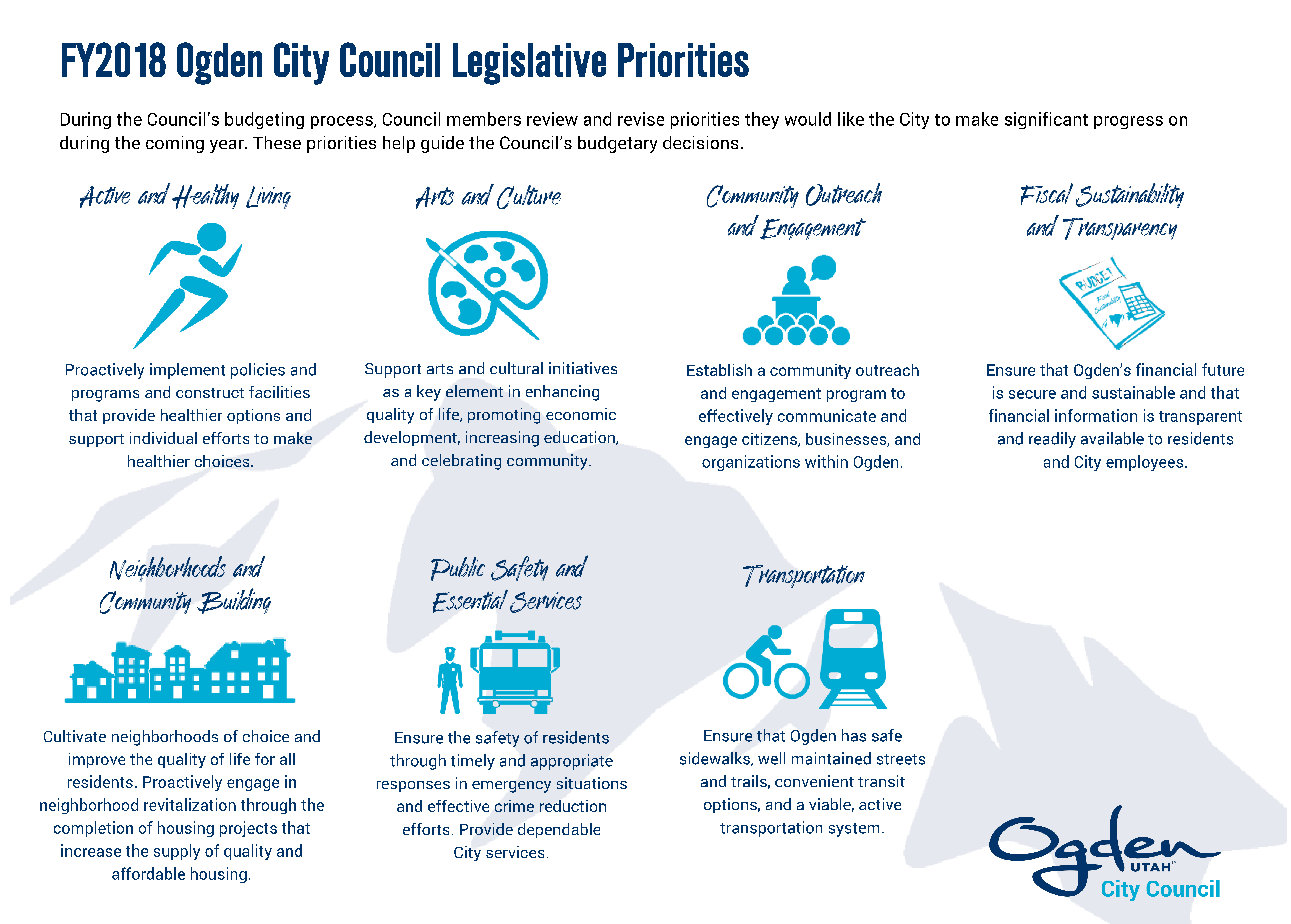 FY2018 Ogden City Council Legislative Priorities