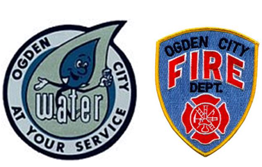 Water and Fire Department Logos