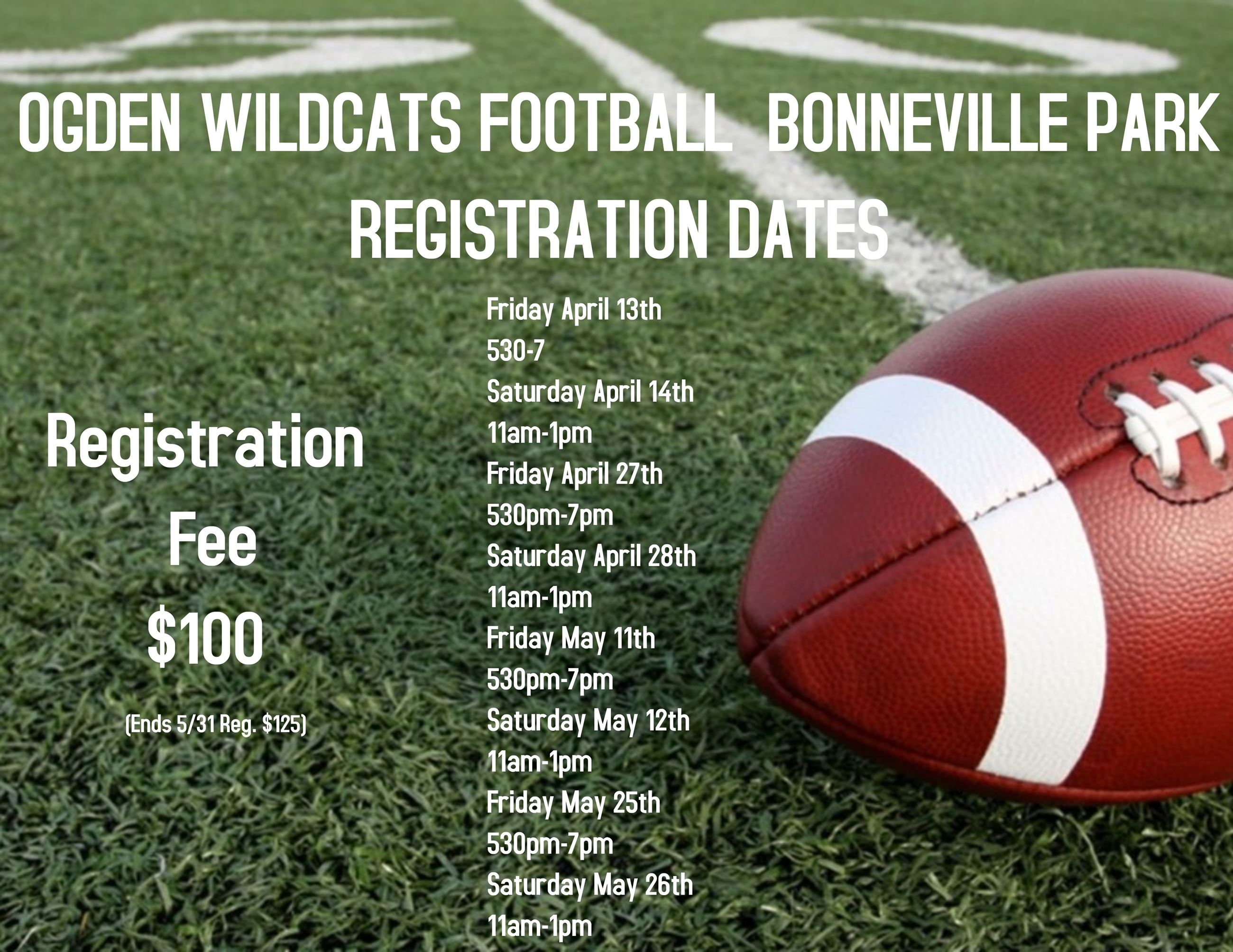 Wildcat Registration 100.00 a new design