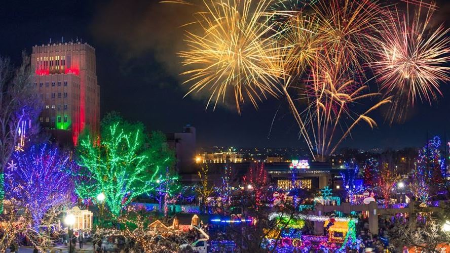 Christmas Village Fire Works Panoramic-Bryan Butterfield-2