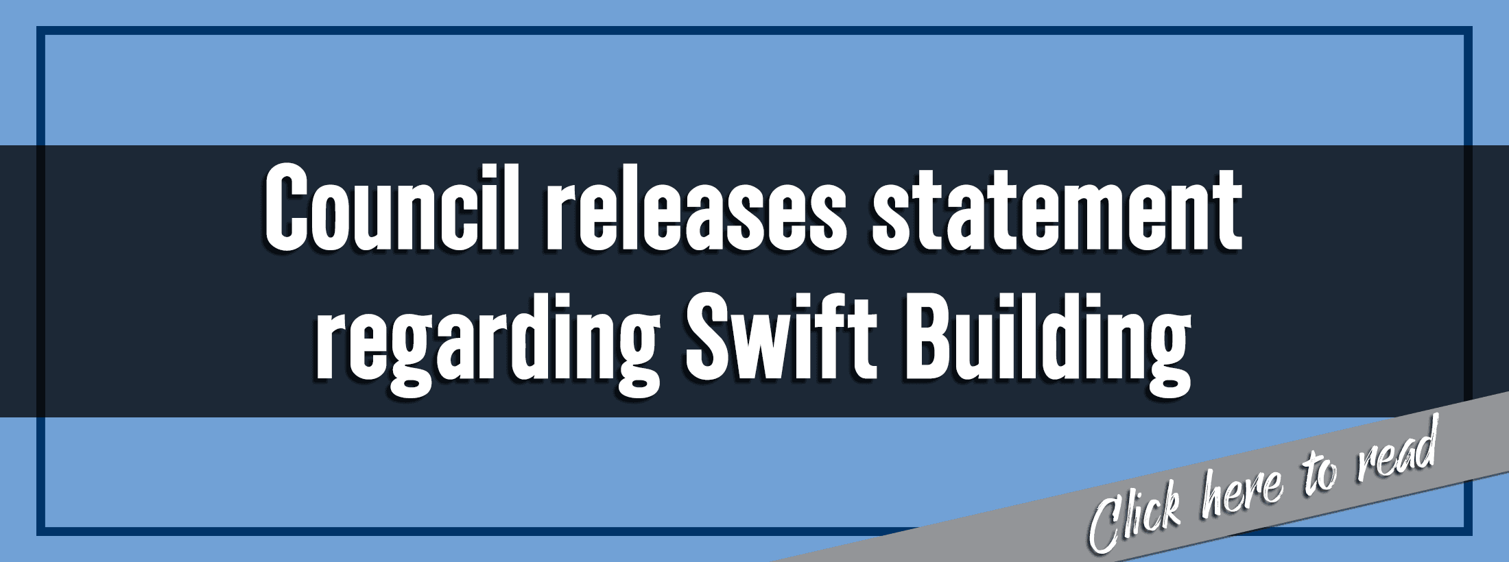 City Council releases statement regarding Swift Building