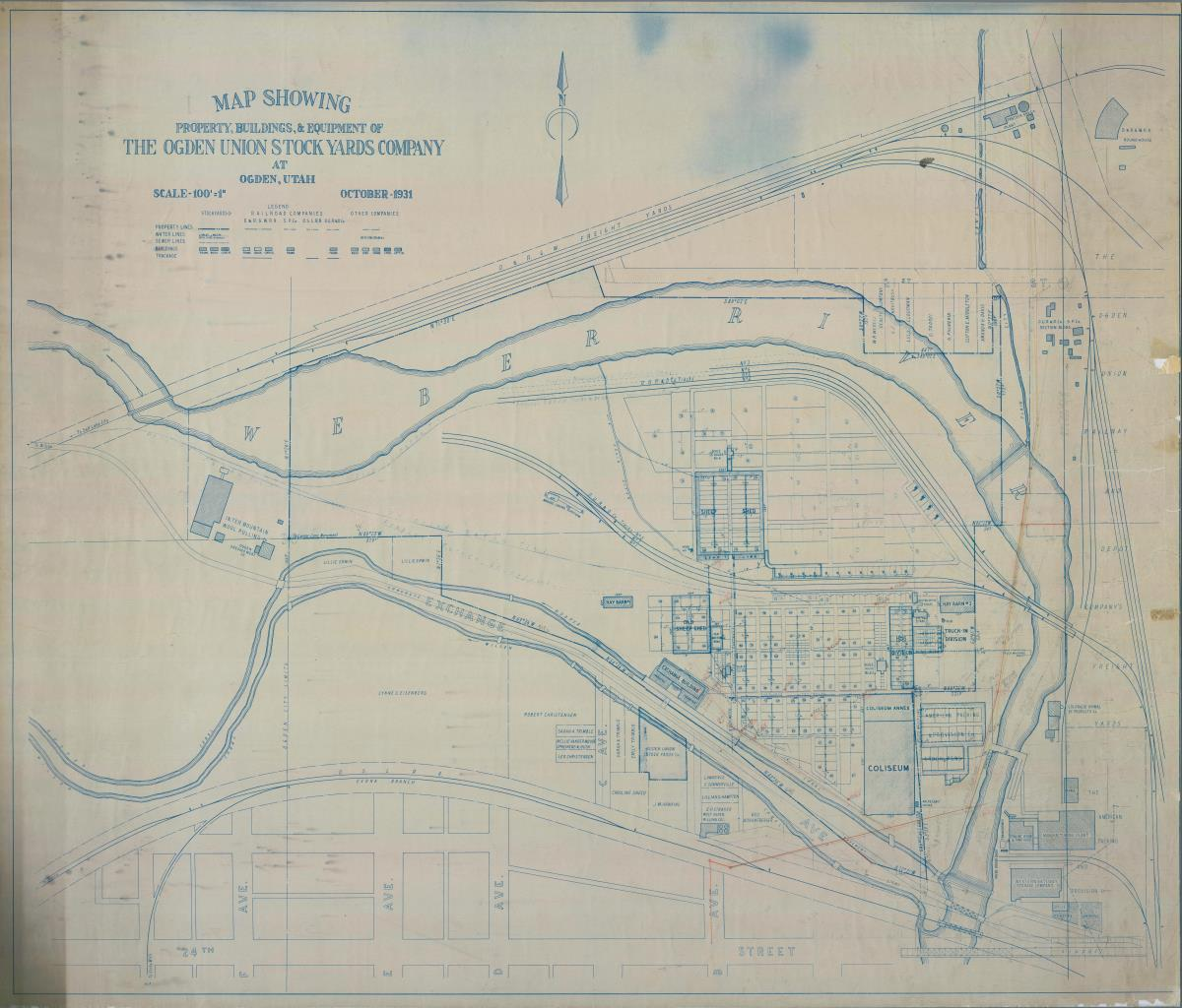 Ogden Stockyards Historic Map