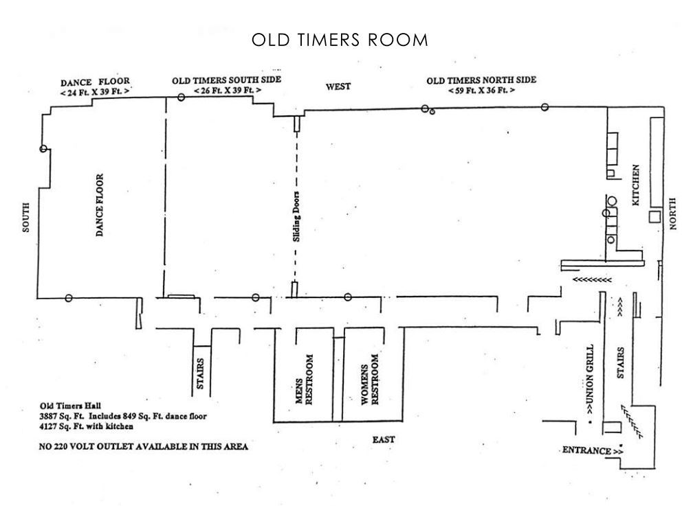 Old Timers Room Floor Plan